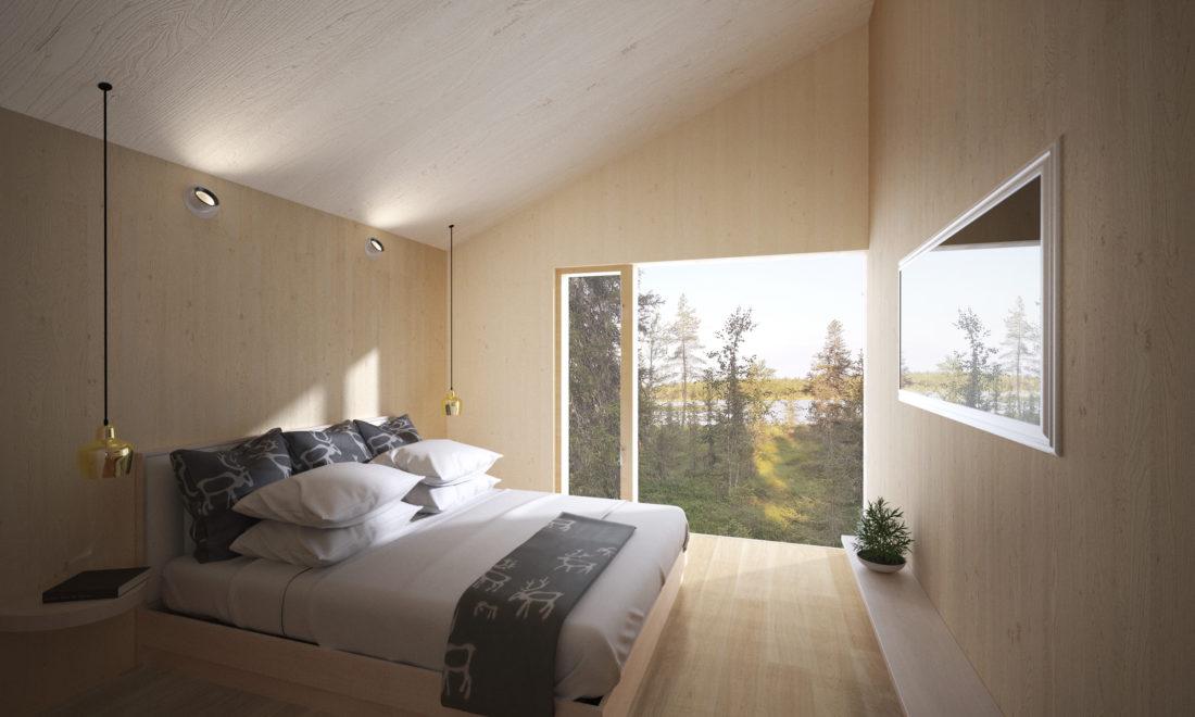 interior view, bedroom, render
