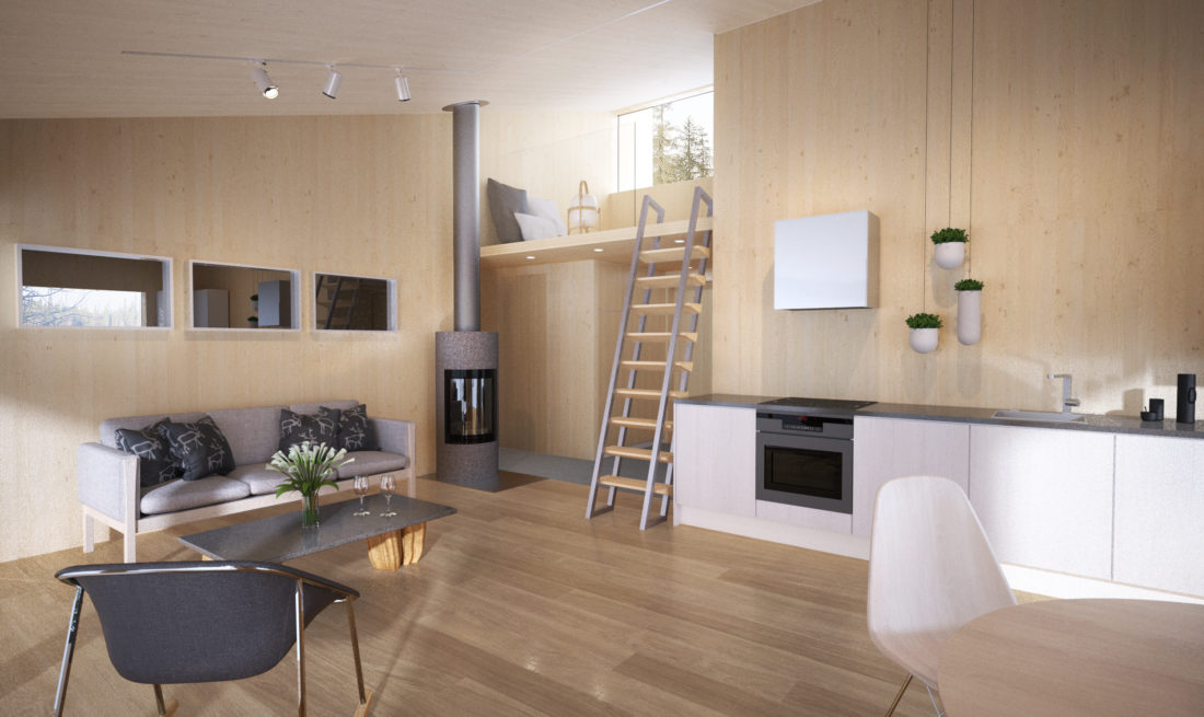 interior view, living, render